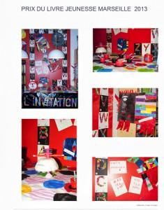 Expo de l'Ecole Malpassé les Lauriers sur le titre l'Invitation de Kveta Pacovska.