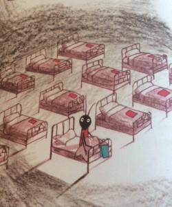 """""""Elle était non seulement seule au fond de son lit, mais seule aussi dans le grand dortoir..."""""""